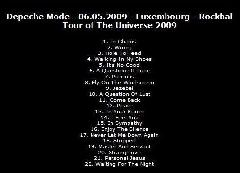 Playlist Depeche Mode Luxembourg