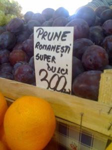prune in piata